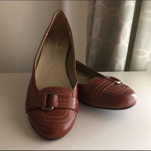Brown leather flats - Naturalizer - Size 7.5